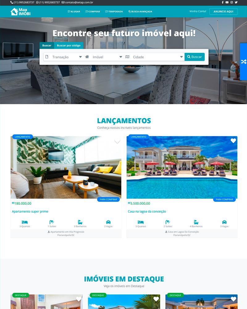 Site Para Imobiliárias E Corretores