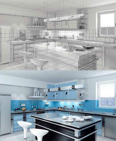 Cozinha em 3d